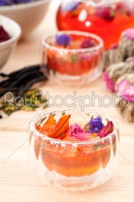 stock photo: herbal natural floral tea infusion with dry flowers-Raw Stock Photo ID: 58600