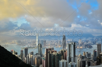 stock photo: hong kong island from victoria peak park-Raw Stock Photo ID: 57184