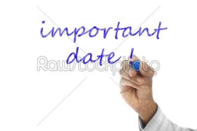 stock photo: important date written  on transparent wipe board-Raw Stock Photo ID: 61487