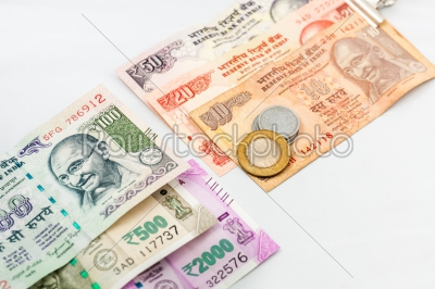stock photo: indian currencies and coins-Raw Stock Photo ID: 75043