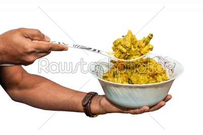 stock photo: indian dish serving-Raw Stock Photo ID: 75046