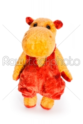 stock photo: isolated yellow hippo toy-Raw Stock Photo ID: 68228