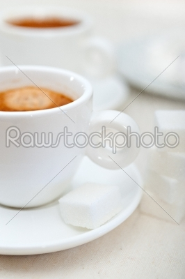 stock photo: italian espresso coffee and sugar cubes-Raw Stock Photo ID: 58966