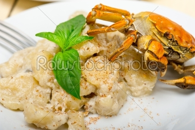 stock photo: italian gnocchi with seafood sauce with crab and basil-Raw Stock Photo ID: 63792