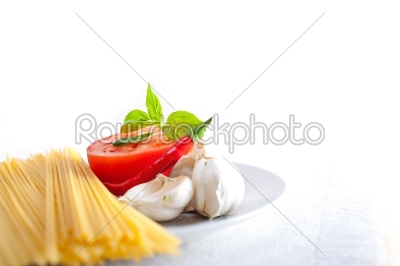 stock photo: italian spaghetti pasta tomato ingredients-Raw Stock Photo ID: 59913