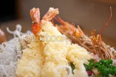 stock photo: japanese style tempura shrimps -Raw Stock Photo ID: 64100