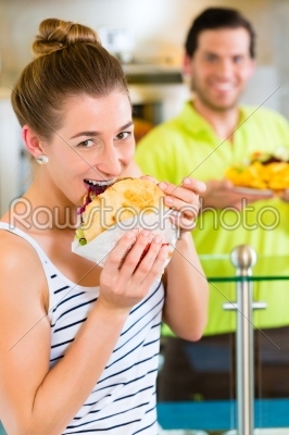 stock photo: kebab  customer and hot doner with fresh ingredients-Raw Stock Photo ID: 49126