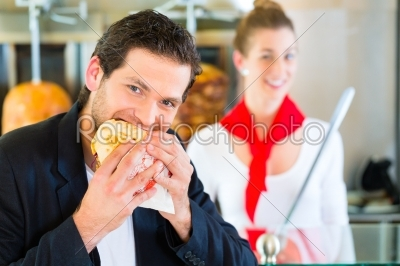 stock photo: kebab  customer and hot doner with fresh ingredients-Raw Stock Photo ID: 49147
