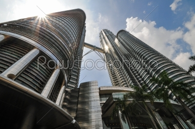 stock photo: kuala lumpur general view of petronas twin towers-Raw Stock Photo ID: 56588