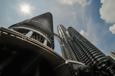 stock photo: kuala lumpur general view of petronas twin towers-Raw Stock Photo ID: 56604