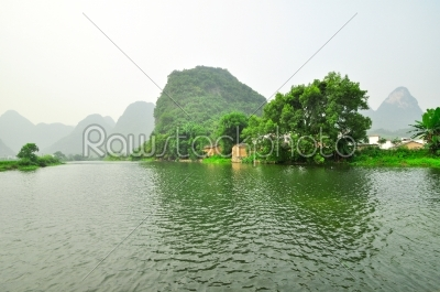 stock photo: li river mountain landscape in yangshuo guilin-Raw Stock Photo ID: 57138