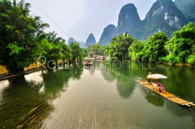stock photo: li river mountain landscape in yangshuo guilin-Raw Stock Photo ID: 57141