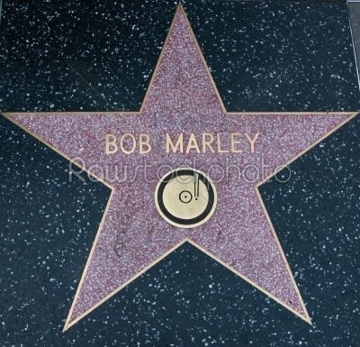 stock photo: los angeles usa  august 23 bob marley hollywood star2013-Raw Stock Photo ID: 56156