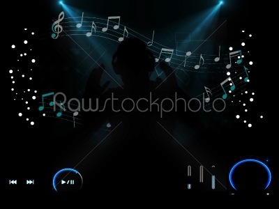 stock photo: loving music with player buttons-Raw Stock Photo ID: 53834