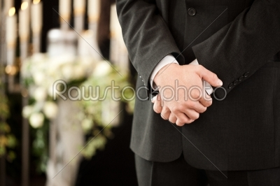 stock photo: man or mortician at funeral mourning-Raw Stock Photo ID: 51919
