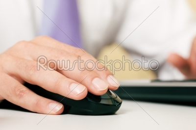 stock photo: man using computer mouse-Raw Stock Photo ID: 51118