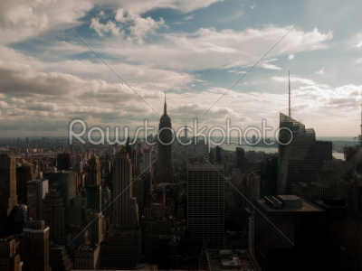 stock photo: manhattan skyline-Raw Stock Photo ID: 74981