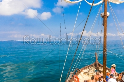 stock photo: masts of sailing ships lying at the wharf skyline-Raw Stock Photo ID: 57515