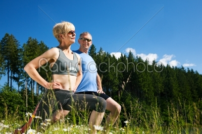 stock photo: mature couple doing sport outdoors-Raw Stock Photo ID: 50458