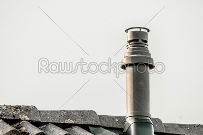 stock photo: metal chimney on the top a roof-Raw Stock Photo ID: 66555