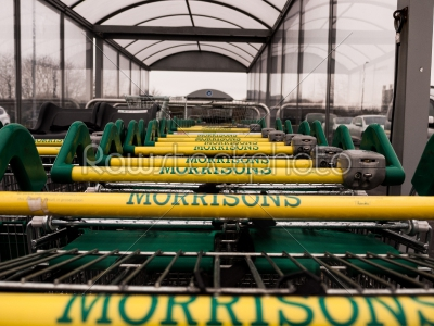 stock photo: morrisons trolley bay-Raw Stock Photo ID: 75020