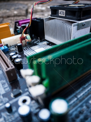 stock photo: motherboard components-Raw Stock Photo ID: 74920