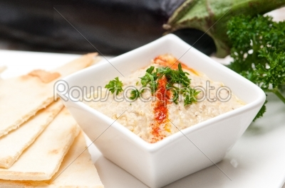 stock photo: moutabal baba ghanoush eggplant dip-Raw Stock Photo ID: 63699