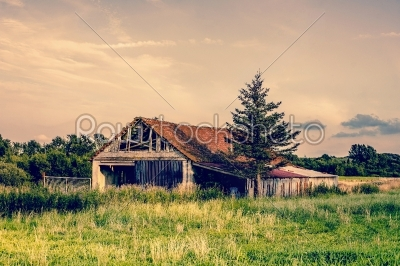 stock photo: old broken farm-Raw Stock Photo ID: 66042