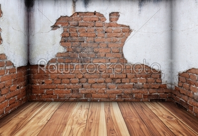 stock photo: old interior with brick wall-Raw Stock Photo ID: 59959