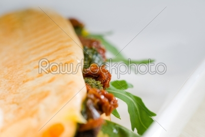 stock photo: panini sandwich-Raw Stock Photo ID: 54555