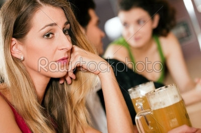 stock photo: people in bar woman being abandoned and sad-Raw Stock Photo ID: 50316