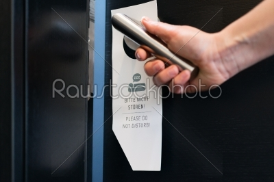 stock photo: please do not disturb sign on a room door in hotel-Raw Stock Photo ID: 49039