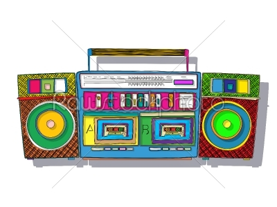 stock vector: pop art boombox-Raw Stock Photo ID: 57606