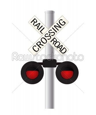 stock vector: railroad crossing sign-Raw Stock Photo ID: 55851