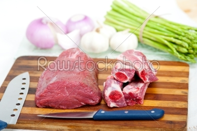 stock photo: raw beef and pork ribs-Raw Stock Photo ID: 64318
