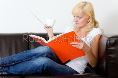 stock photo: reading on the sofa-Raw Stock Photo ID: 51762