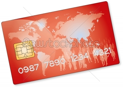 stock photo: red credit card-Raw Stock Photo ID: 67841