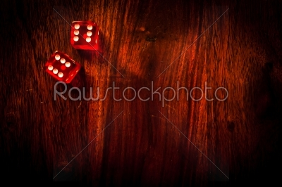stock photo: red dice on a table-Raw Stock Photo ID: 66250