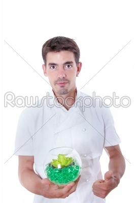 stock photo: satisfied cook-Raw Stock Photo ID: 52357