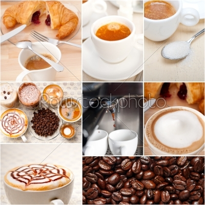 stock photo: selection of different coffee type on collage composition -Raw Stock Photo ID: 64478