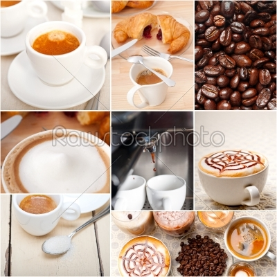 stock photo: selection of different coffee type on collage composition -Raw Stock Photo ID: 64480