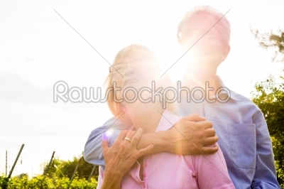 stock photo: senior man and woman walking hand in hand-Raw Stock Photo ID: 49191