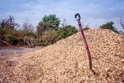 stock photo: shovel in mulch-Raw Stock Photo ID: 66422