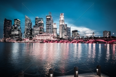 stock photo: singapore city skyline finacial district-Raw Stock Photo ID: 56660