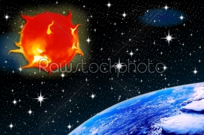stock photo: solar flares-Raw Stock Photo ID: 53055