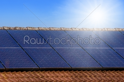 stock photo: solar panels on the roof-Raw Stock Photo ID: 66589