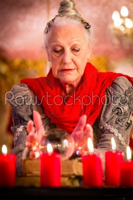 stock photo: soothsayer during esoteric session with crystal ball-Raw Stock Photo ID: 49859