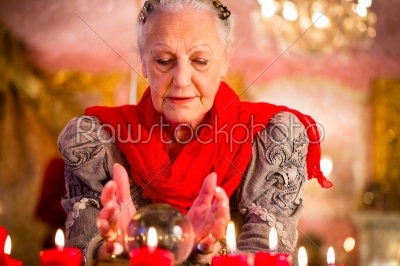 stock photo: soothsayer during esoteric session with crystal ball-Raw Stock Photo ID: 49860