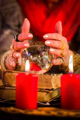 stock photo: soothsayer during esoteric session with crystal ball-Raw Stock Photo ID: 49862