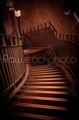 stock photo: stairway going down in a building-Raw Stock Photo ID: 66134